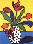 Tulips and Spotted Vase 1986