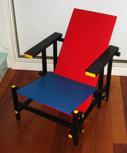 Untitled [Replica Rietveld Chair] (c.1975-6?) [3_M]#0E74