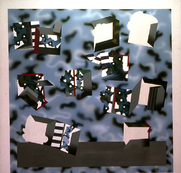 Untitled [blue_black with boxes] (1972)#6B25