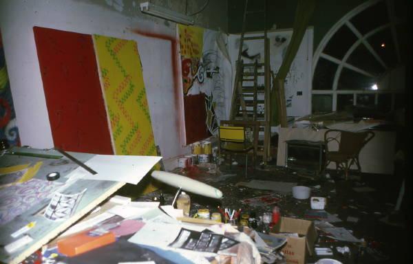 Arkley's studio Feb79