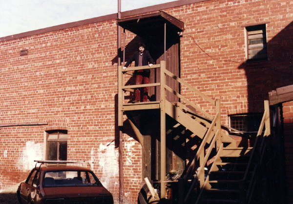 HA at Prahran studio c.1981