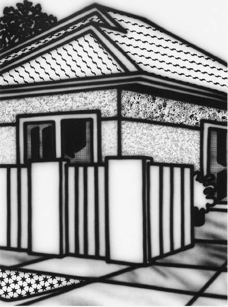 Home Enclosed by Fence 1995 [W_P]#863F