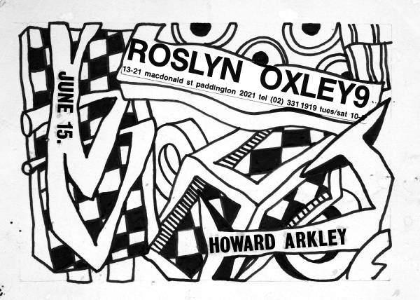 Roslyn Oxley9 1983 exh.invitation