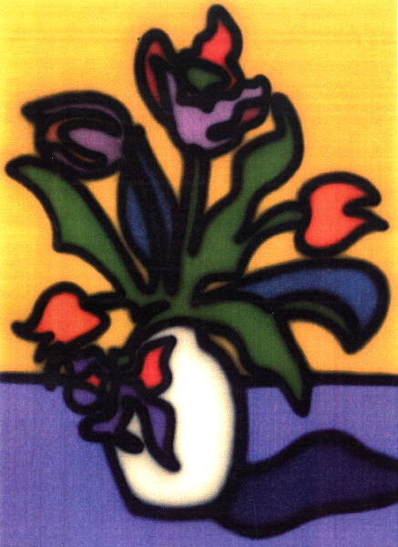 Tulips in a White Vase (1996) [W_P]#2ADB