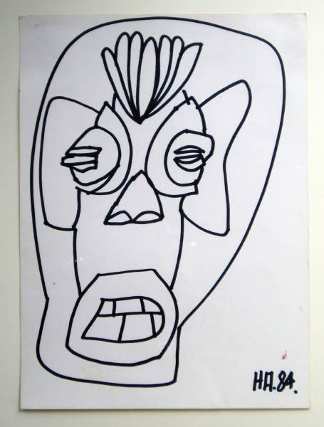 Untitled ['Aztec Head'] 1984 [W_P]#69FE
