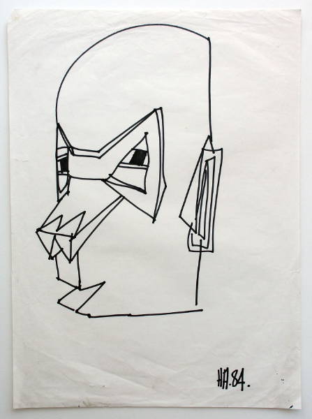 Untitled [Head] 1984 [W_P]#CF46