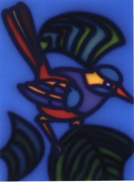 Untitled Purple Bird] 1997?