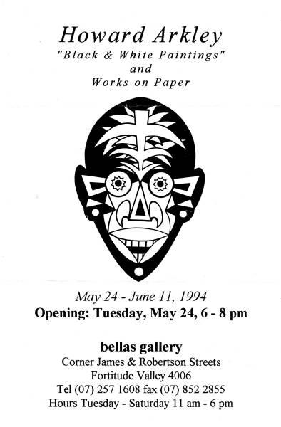 Bellas 1994 exh.invitation