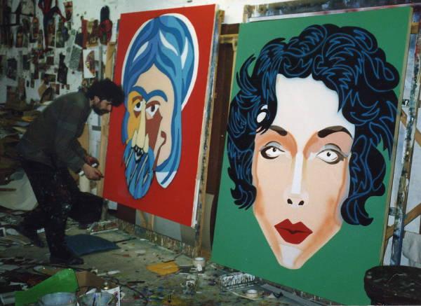 HA painting heads 1990