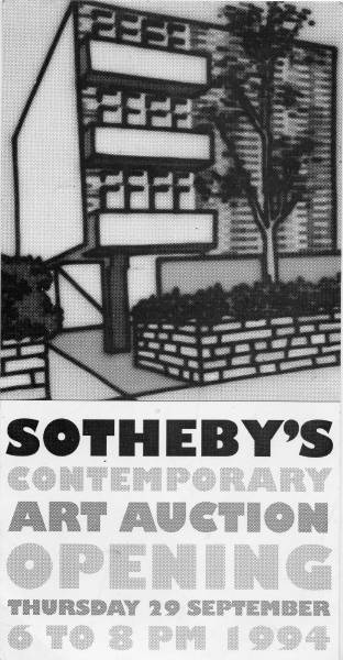 Sotheby's Sept.94 auction invit'n