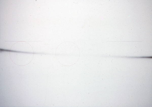 Untitled (1975?) [Sprayed line, circles and lines]