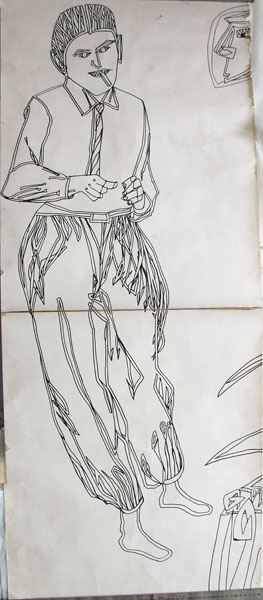 Untitled (Man with baggy trousers) (1985?) [W:P]