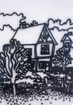 Untitled ['Tudor House...'] 1987 [W:P]