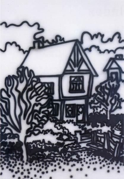 Untitled ['Tudor House...'] 1987 [W:P]