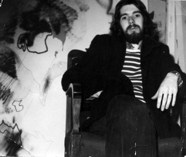 Arkley in his Prahran studio c.1974 (photo: Elizabeth Gower)